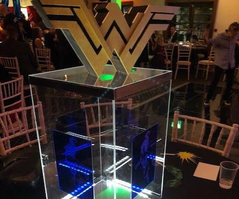 Acrylic Superhero Table Centre Pieces