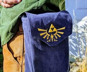 A Zelda Triforce Belt Pouch
