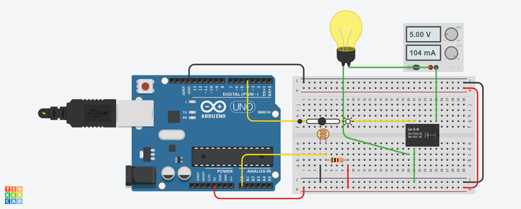 Basic Arduino Light Intensity Lamp!