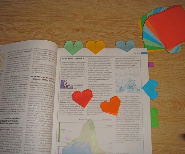 Make Your Own Unique Heart Bookmark
