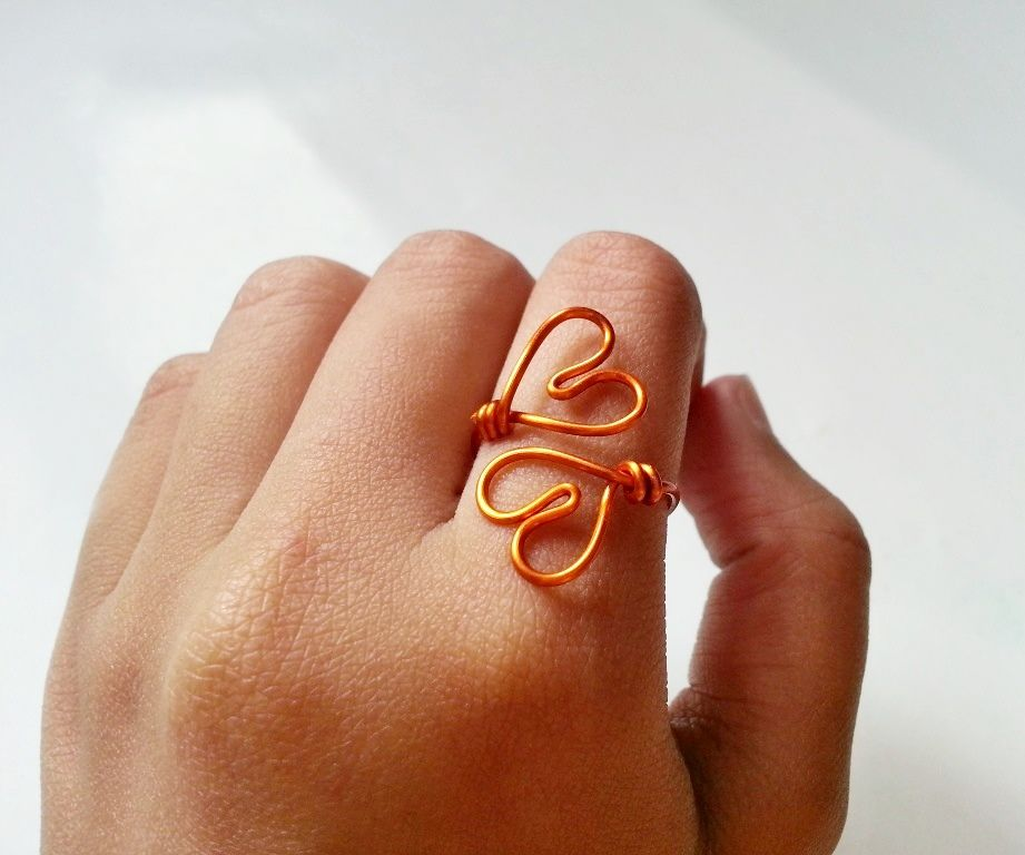 DIY Simple Double-Heart Ring