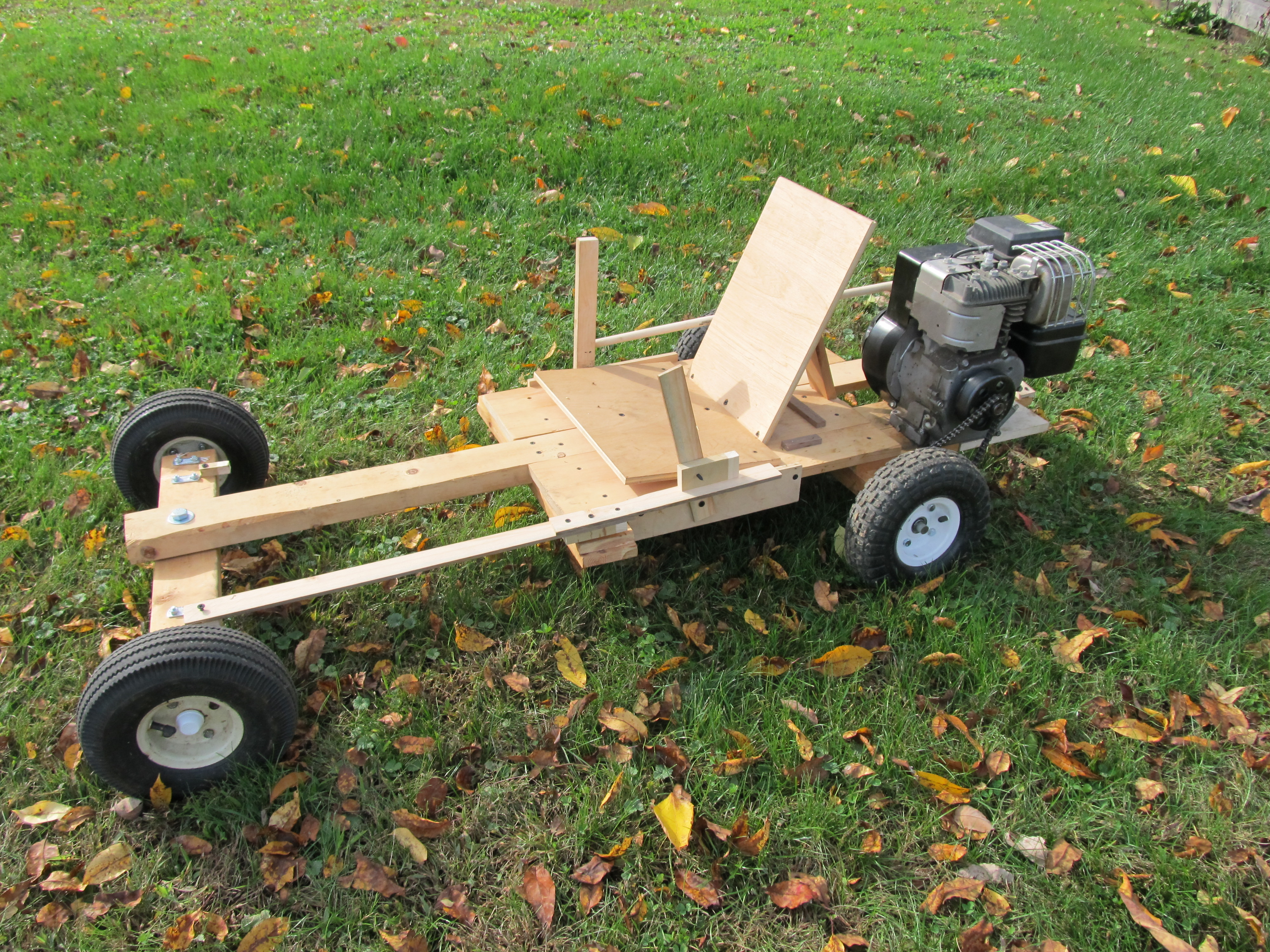 Homemade Wooden Gokart 6 Steps With Pictures Instructables