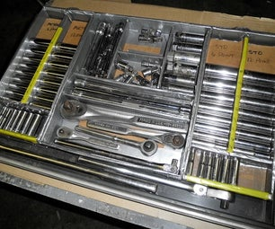 Cardboard & Duct Tape Tool Organizer