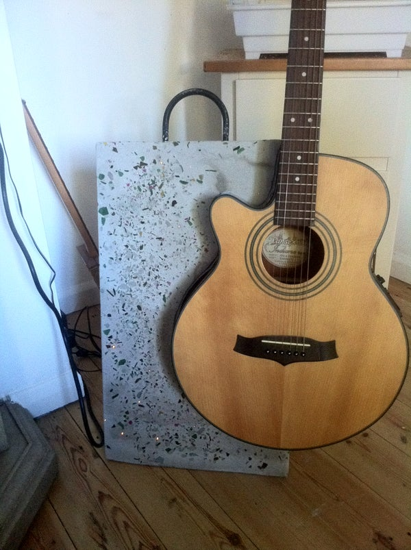 Polished Concrete Guitar Stand With Fibre Optic Lights