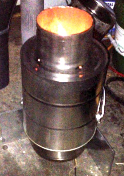 Durable Biochar Producing TLUD Camp Stove
