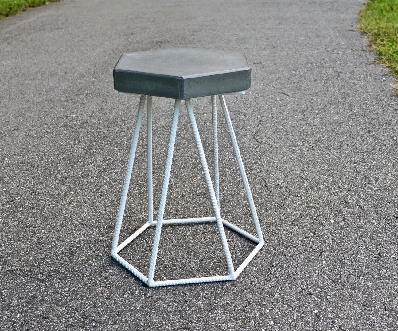 DIY Concrete and Steel Outdoor End Table | How to Build - Welding