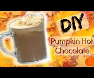DIY Pumpkin Hot Chocolate at Home │ Homemade Fall Drink Recipe