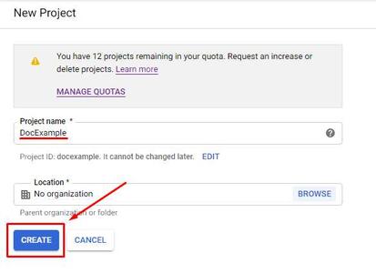 PubSub - Create Google Cloud Project