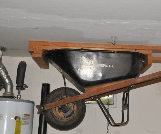 Hang Your Wheelbarrow on the Wall or from the Ceiling