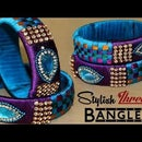 How to make Silk Thread Jewellery Bangles at home 2018 || Fancy Silk Thread Bangles || Latest Bangle Designs for Girls