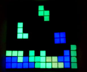 DIY Glow in the Dark Tetris Coaster