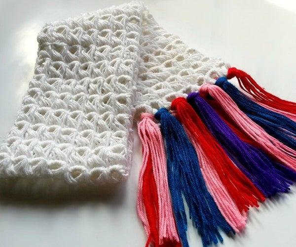 DIY Broomstick Crochet Scarf