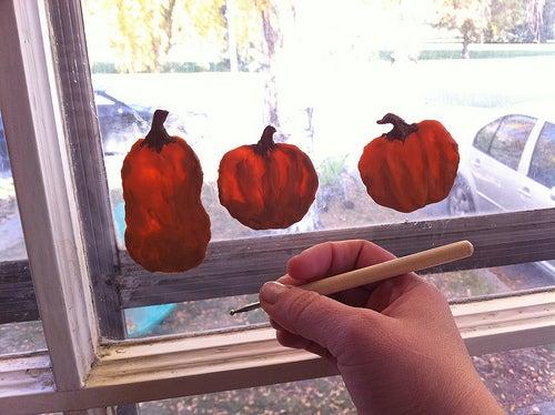Sugru Window Pumpkins
