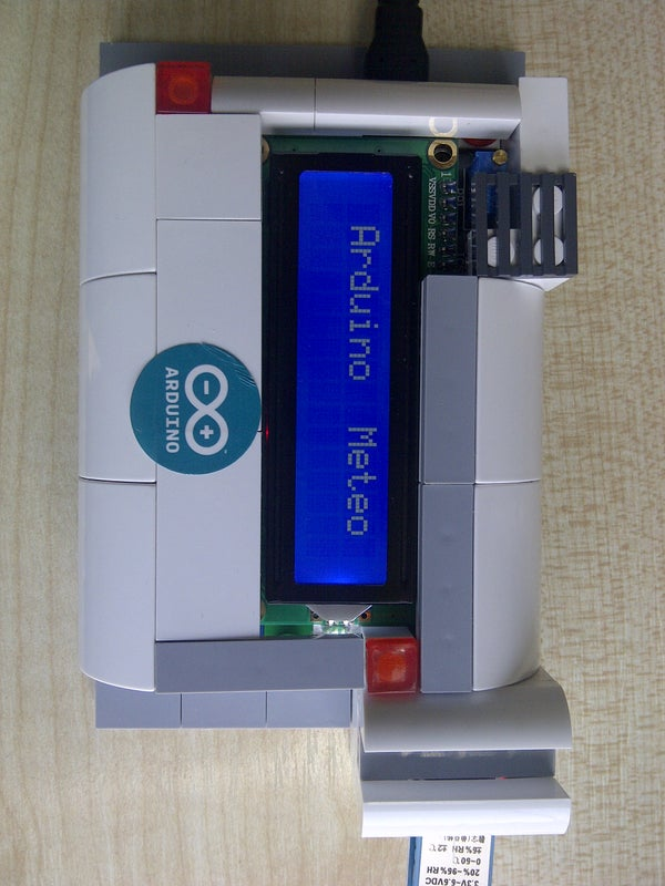 Arduino Uno DHT11 LCD Weather Station DIY