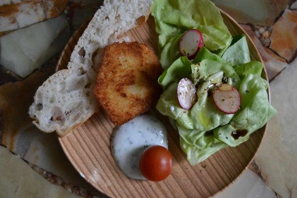 (vegetarian/vegan) Celeriac-schnitzel
