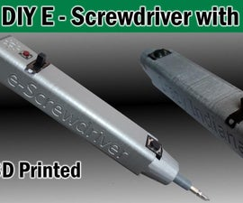 DIY Electric Screwdriver With Flashlight / Torch Rechargable