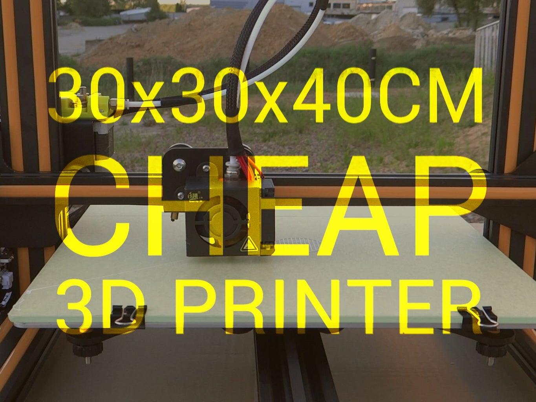 Creality CR10 - Cheap 30x30x40cm 3D Printer