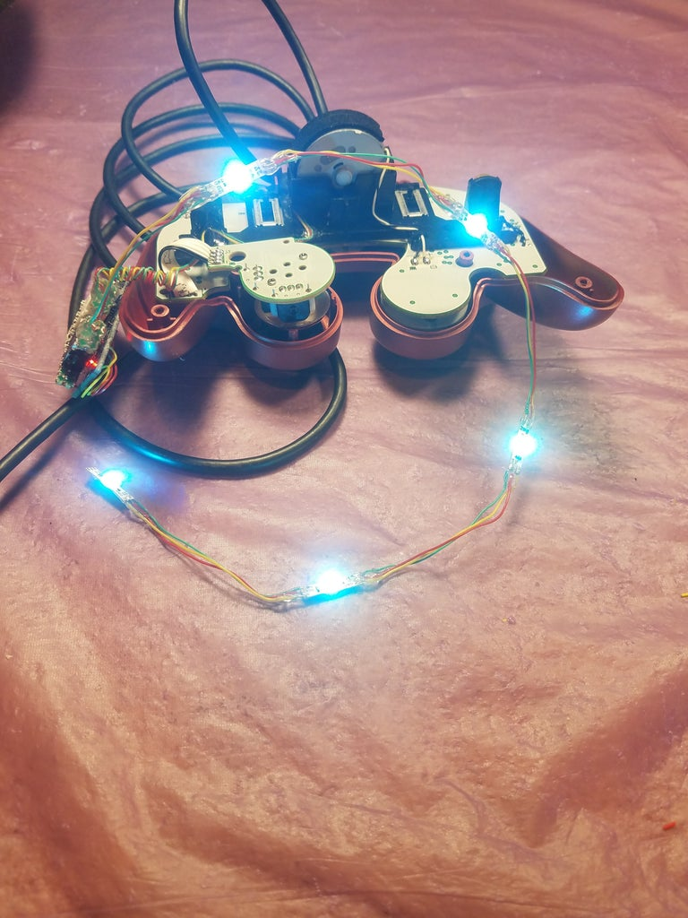 Repeat the Previous Steps of Attaching LEDs
