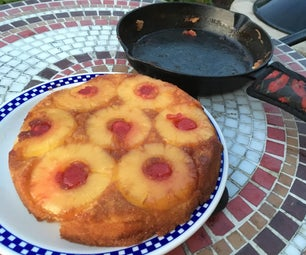 Easy Pineapple Upside Down Cake Over the Grill