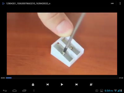 TAKE OUT THE BLADE FROM PENCIL SHARPENER USING SCREW DRIVER.