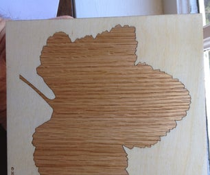 Inlay Leaf Design With Laser Cutter