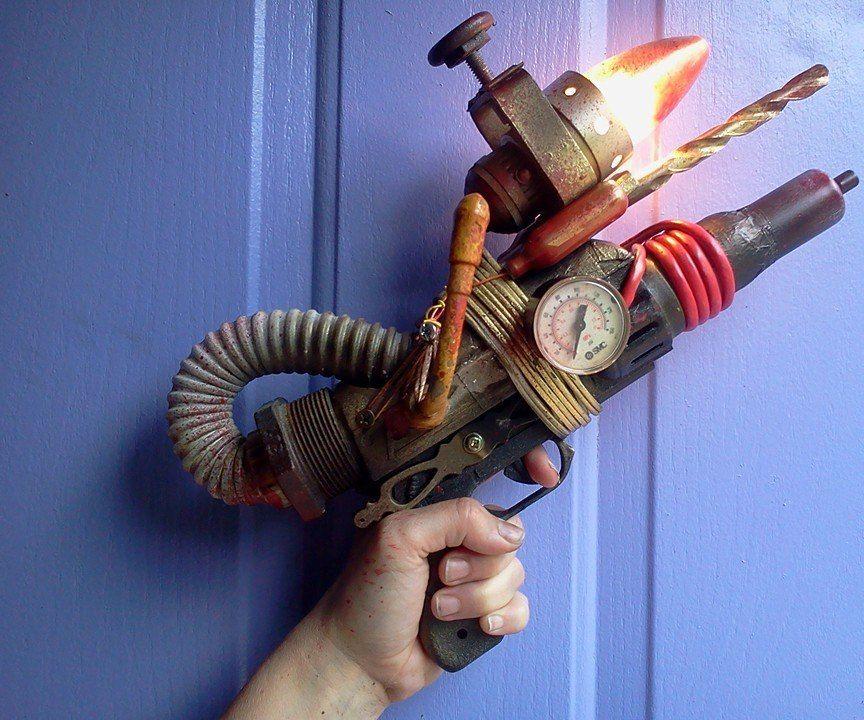 Steampunk Lamp Raygun