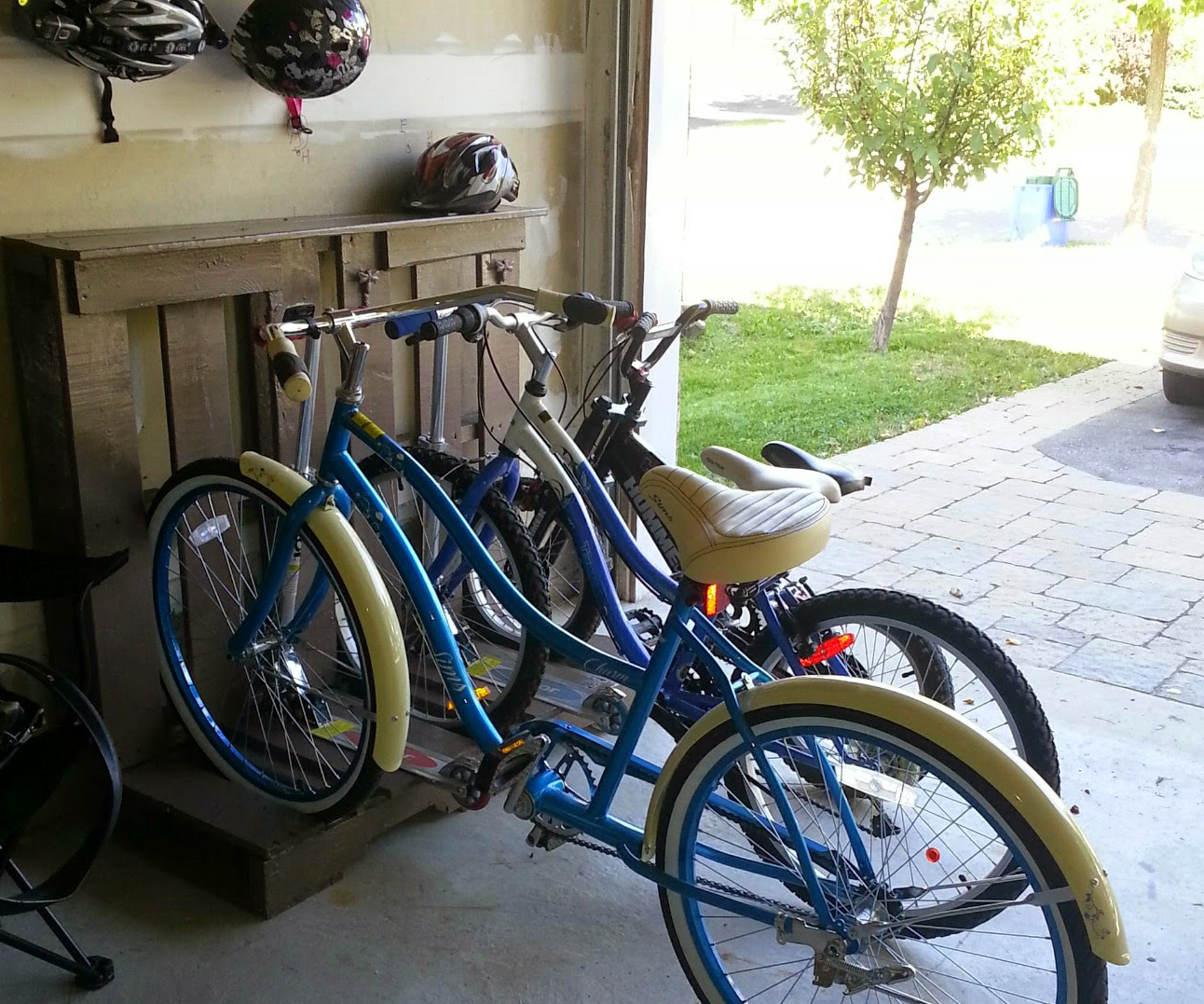 Wooden Pallet - Bike and Scooter Rack