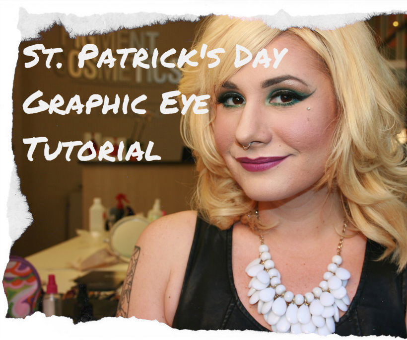 St. Patrick's Day Graphic Eye Makeup Tutorial!