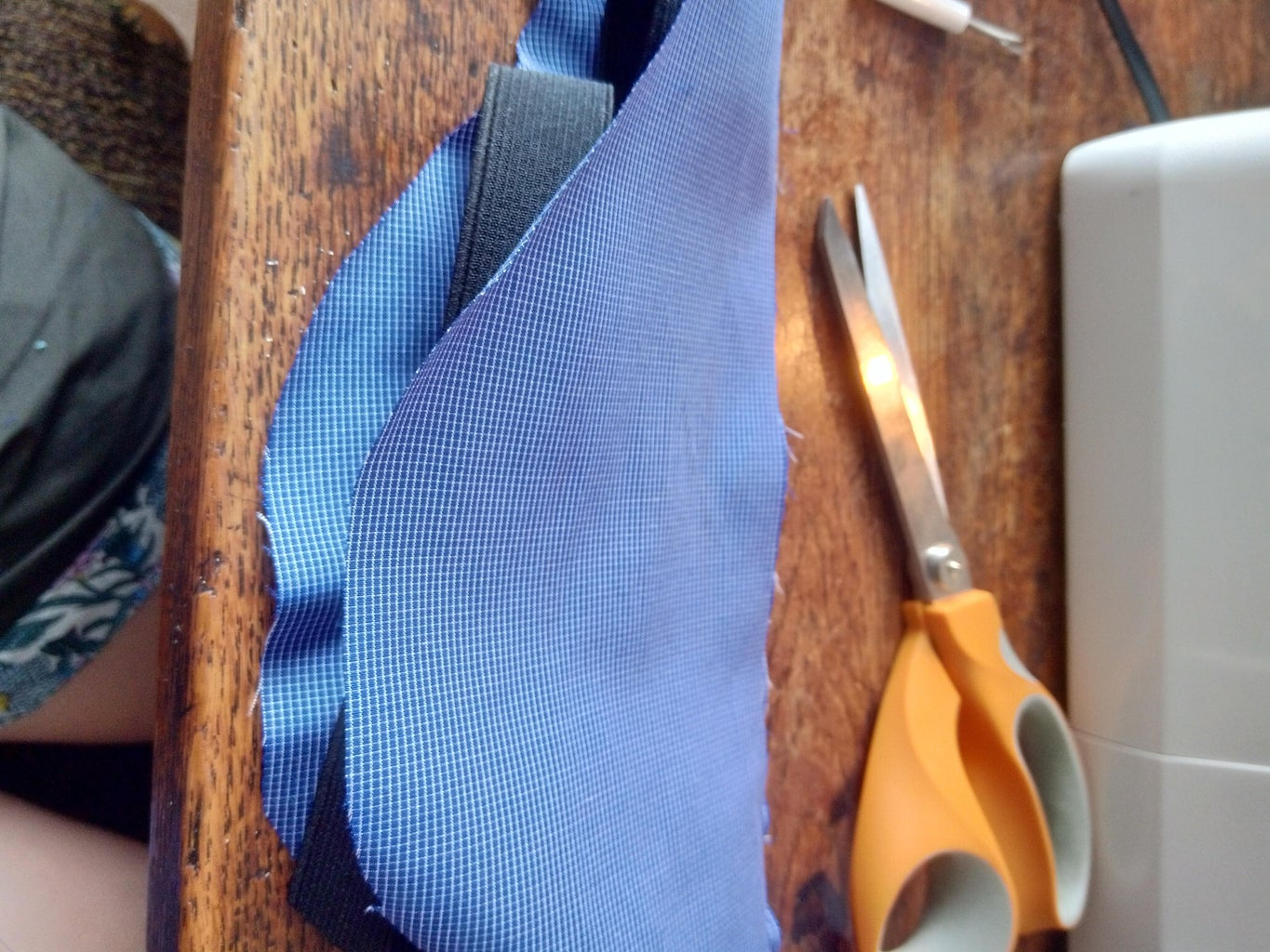 Sew the Elastic, Clip and Back Piece