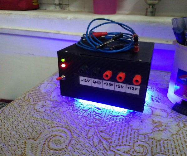Fixed Output Lab Bench Power Supply( ATX Hacked)