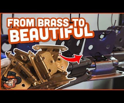 Refinish Brass Hardware Yourself // Powder Coating Project