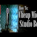 DIY Cheap Mic Box From Carboard Box (And Another From a Crate.)