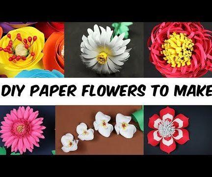6 DIY Paper Flowers to Make