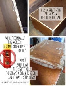 Screw on Table Legs, Sand Surface, Fill Gaps & Gouges