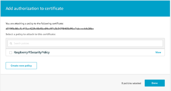 Adding a Policy to Your Certificate