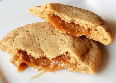 Caramel Stuffed Apple Cider Cookies