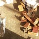 scrap wood wall hanging frame