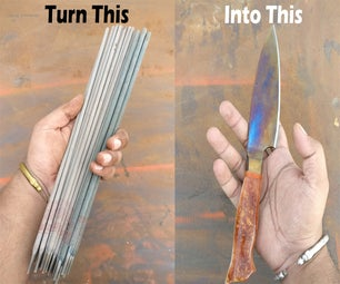 Chefs Knife From Welding Electrodes