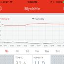 Gráfico de temperatura y humedad basado en IoT en un teléfono Android en 30 minutos