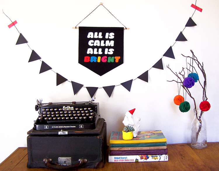 Holiday DIY: Wool typography banner