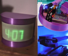 Glow in the Dark Robotic Clock