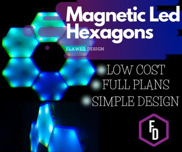 Magnetic LED Hexagons