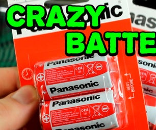 Сrazy Science Experiments With Batteries.