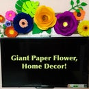 Giant Paper Flower, Home Decor [VIBGYOR in RIBGOVY order]!