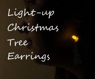 Light Up Christmas Tree Earrings