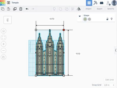 Customizing the Design in TinkerCAD