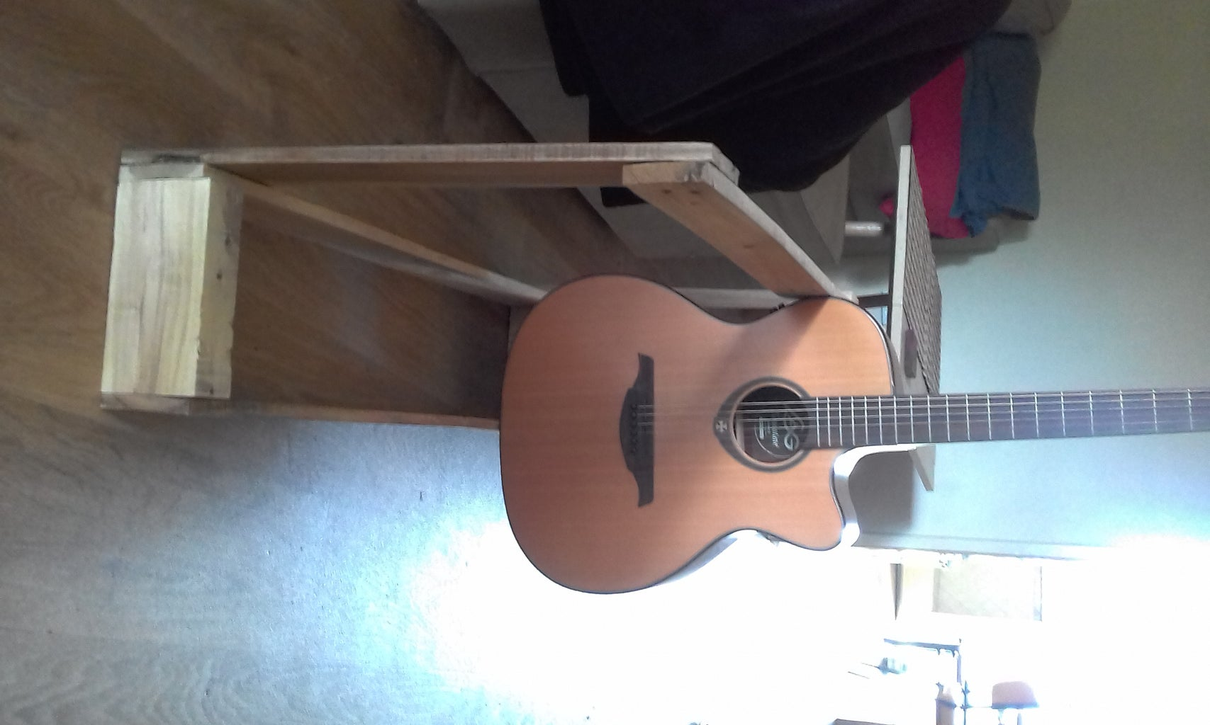 Multiple Size Ukulele Stand (Recycled Wood)pictures