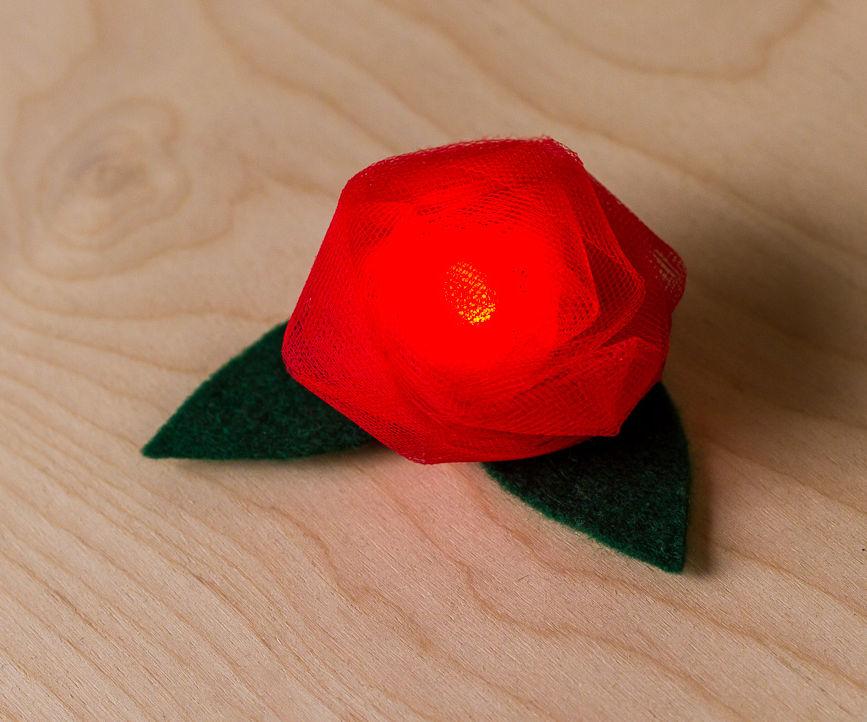 Wearable LED Flower Brooch