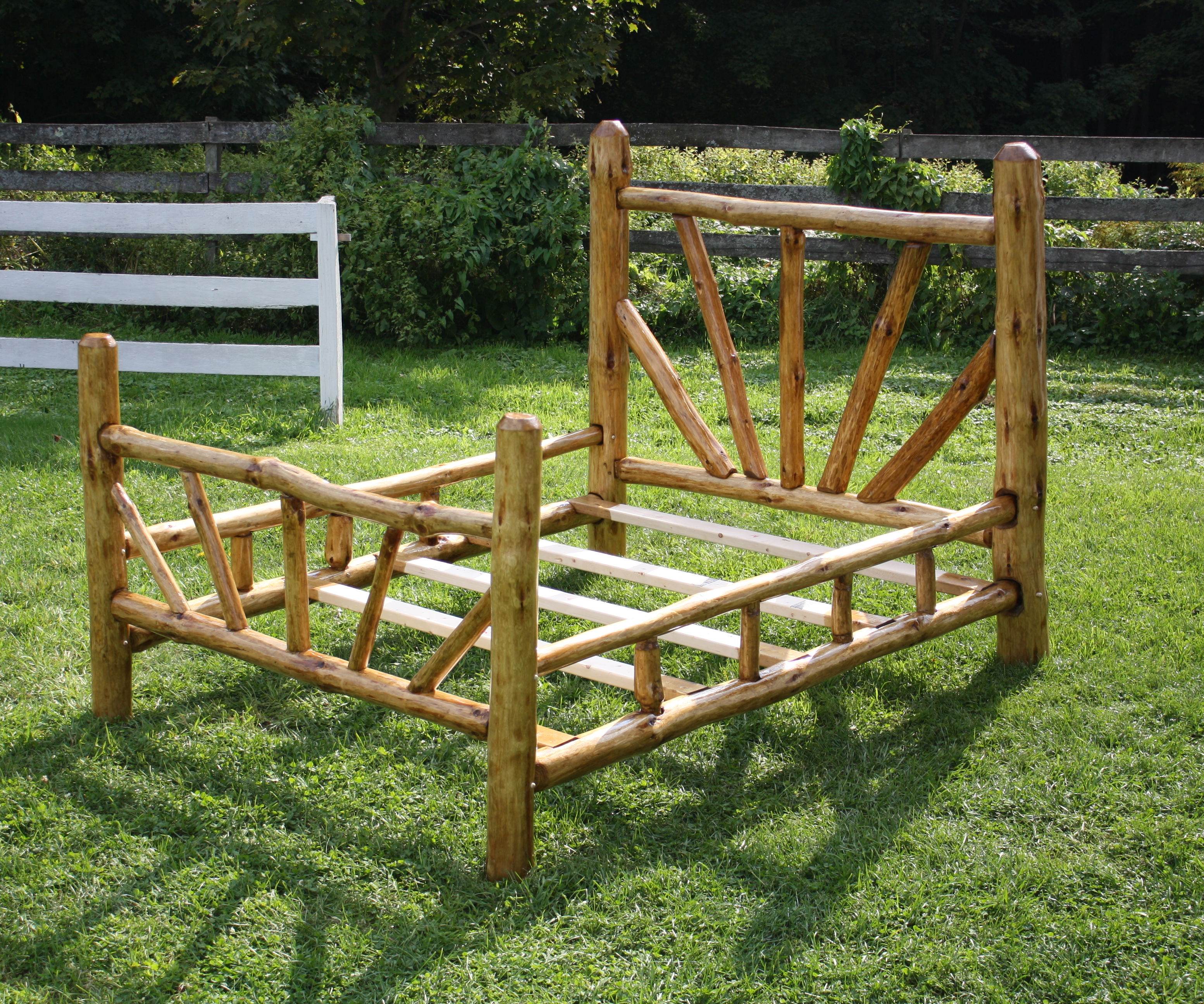 Rustic Bed Frame Queen Size 15 Steps With Pictures Instructables