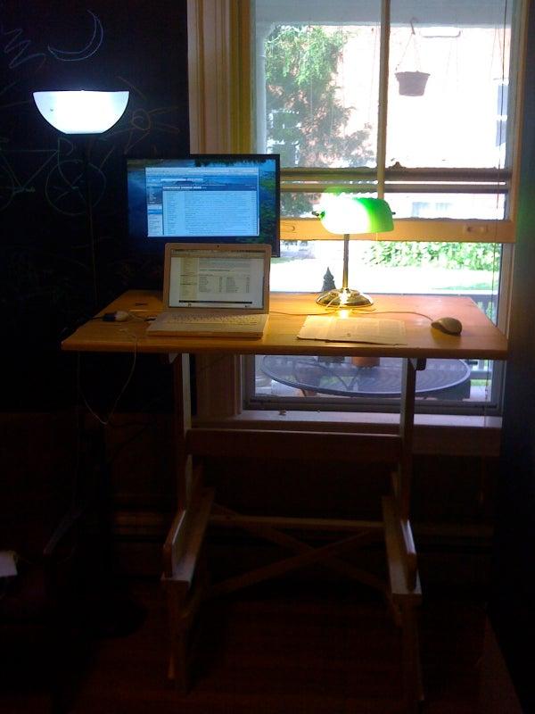 DIY Standing Desk (in Prep for Treadmill Desk)